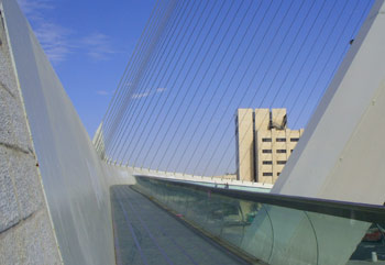 calatrava bridge of strings in Jerusalem