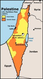 map: UN partition of palestine