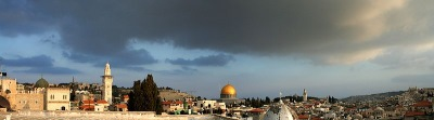 panorama of Jerusalem Old City