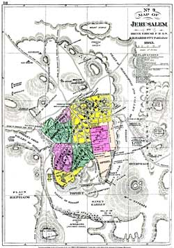 ancient Jerusalem maps