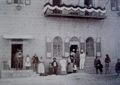 Theodore Hezl in front of the Stern House, Jerusalem