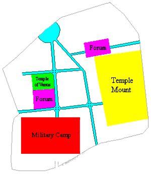 map of Roman Jerusalem