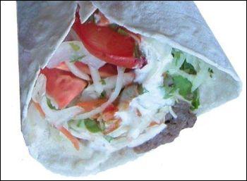 gyros sandwich chicken shawarma