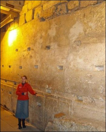 The largest stone in the Western Wall