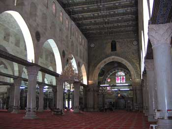 Al Aqsa Mosque Interior Jerusalem