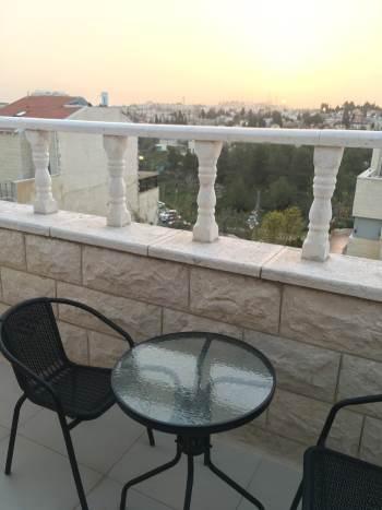 balcony of Jerusalem rental apartment