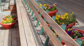 bench at the First Jerusalem Railway Station
