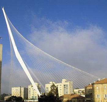 Calatrava Bridge of Strings Jerusalem