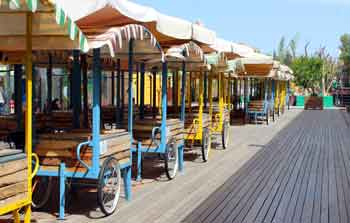 carts at the first Jerusalem train station