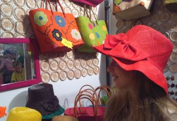 Jerusalem arts and craft fair girl with hat