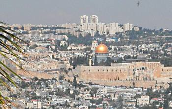 Jerusalem Templ Mount from Haas Promenad