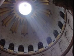 skylight in Holy Sepulchre