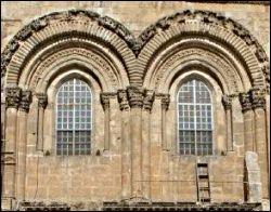 ladder to Holy Sepulchre windows