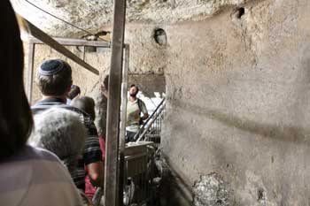 Biblical archaeology - inside a First Temple water cistern in Jerusalem