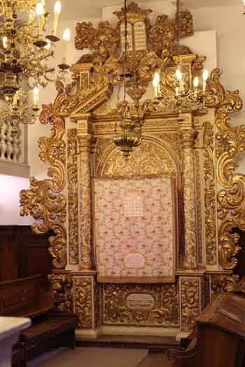 Torah Ark from the Conegliano Veneto synagogue of Italian Jews in Jerusalem