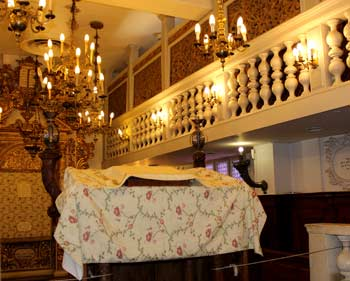 Italian Jews: Conegliano Veneto synagogue at the Nahon Museum of Italian Jewish Art in Jerusalem