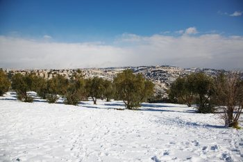 snow in Jerusale