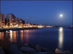 limassol, cyprus at night