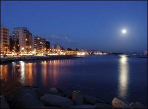 limassol, cyprus at night