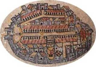 Madaba map of ancient Jerusalem