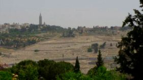 Mount of Olives panorama from the Old City Jerusalem