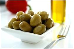 Israeli food - marinated olive