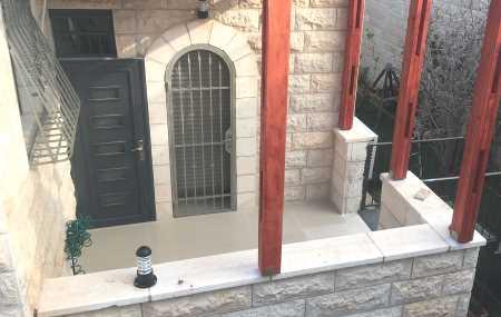 Porch entrance to Jerusalem vacation rental