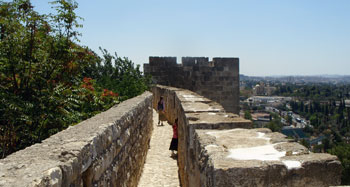 the ramparts of Jerusalem's Old City