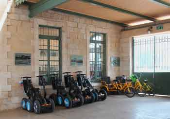 Segways and bikes at the First Train Station, Jerusalem