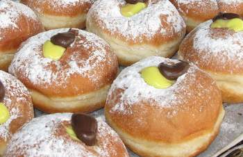 Hanukkah Jelly Doughnuts | Sufganiyot Recipe — Dishmaps
