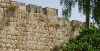 Old City, Jerusalem wall at Zion Gate