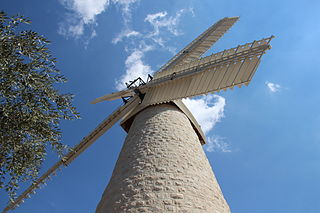 Montefiore windmill in Jerusalem