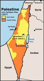 map: UN partition of palestine