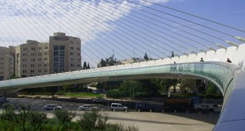 Calatrava Bridge of Strings Jerusalem