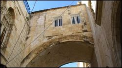 The Ecce Homo arch on the Via Dolorosa in Jerusalem's Old City