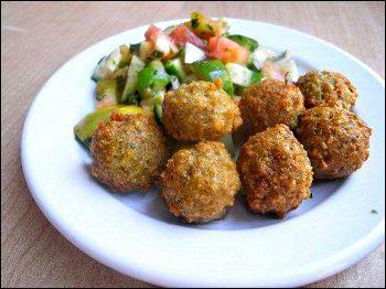 falafel on a plate