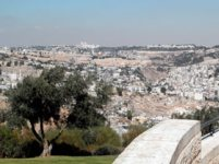 View of Jerusalem from Haas promenade