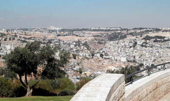 View of Jerusalem Old City from Haas Promenade