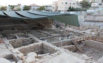 Biblical archaeology excavations at the city of David