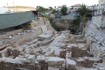 Givati excavations at the City of David in Jerusale