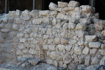 wall built by Nehemia in Jerusalem