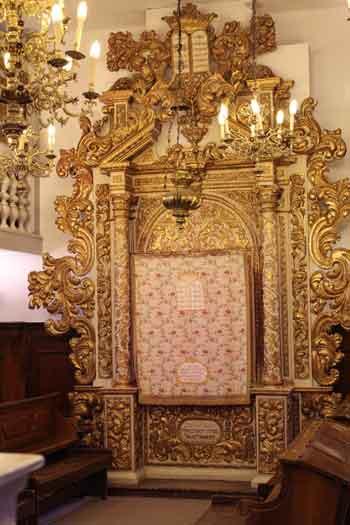 Torah Ark from the Conegliano Veneto synagogue of Italian Jews in Jerusalem