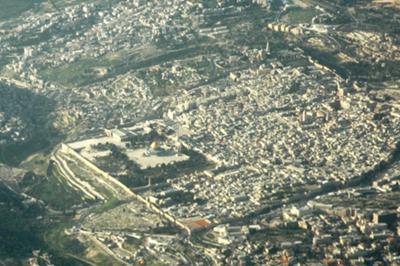 Jerusalem from the sky