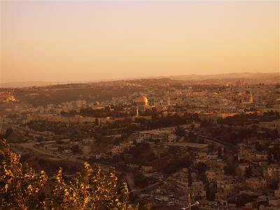 Jerusalem panorama from Mt of Olives