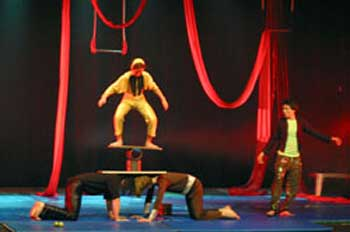 acrobats at the Israel Festival in Jerusalem