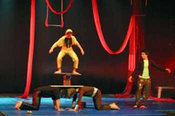 acrobats at Israel Festival in Jerusalem
