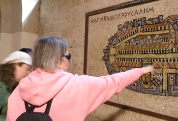 Jerusalem scavenger hunt: looking at the Madaba Ma