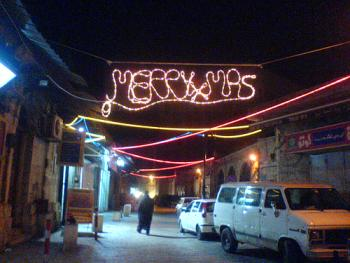 christmas lights in Jerusalem