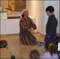 Story time at the Bible Lands Museum in Jerusalem