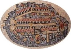 6th century Madaba map of Jerusalem